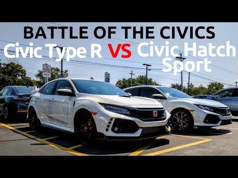 Honda Civic Type R vs Civic Hatchback Sport - Owner's Comparison!