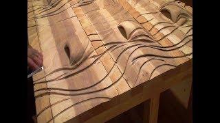 Резьба по дереву с помощью болгарки часть2, заканчиваем вырезать  фасад шкафа