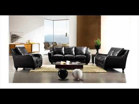 VIG Divani Casa Bremen Black Full Leather Sofa Set