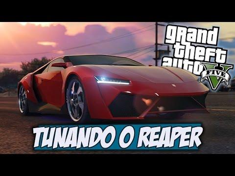 Tunando o carro Pegasi Reaper novo carro super- GTA V