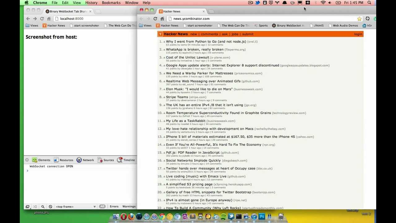 Screensharing a browser tab in HTML5? - HTML5 Rocks