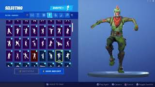 *UPDATED* Fortnite Rex Skin Outfit Showcase with All Dances & Emotes