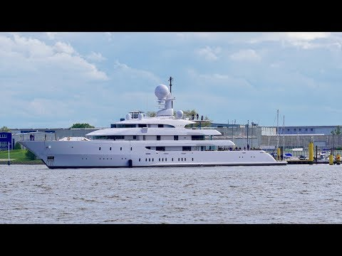 4K | Yacht MY ILONA lauch after Refit - Abeking and Rasmussen shipyard