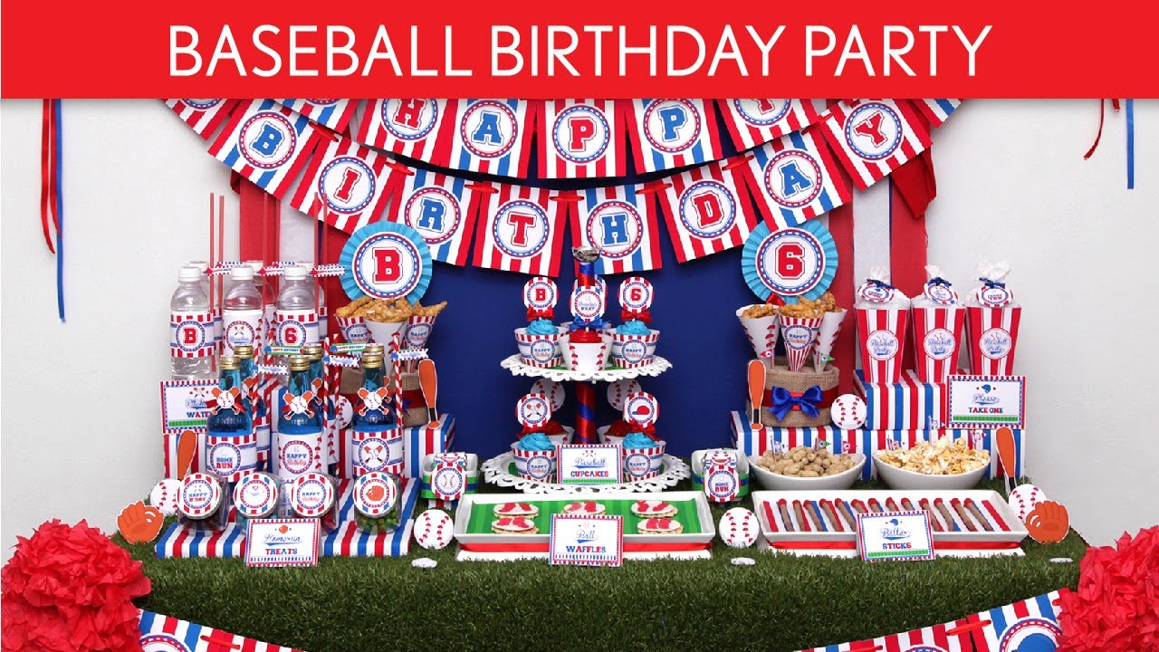 Baseball Birthday Party Ideas B62 YouTube
