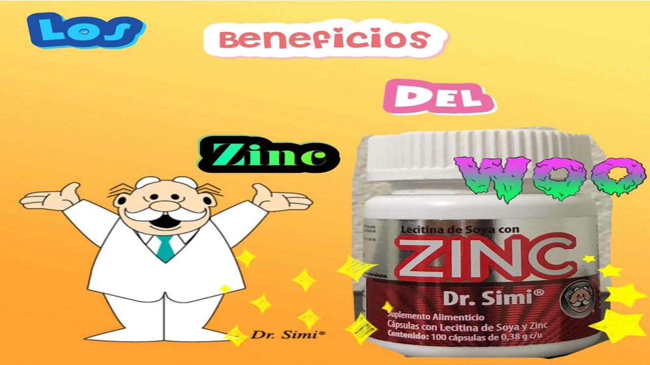 lecitina de soja y zinc para que sirve