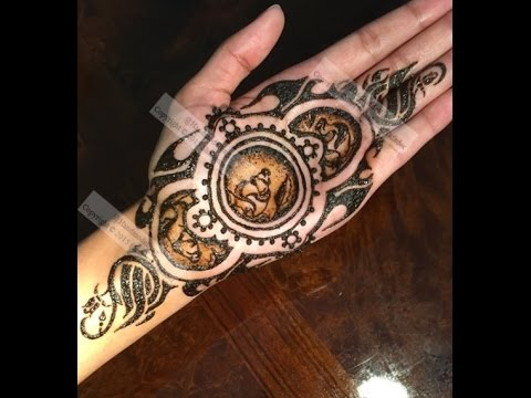 Rose Tattoo Design With Shading And Two Tone Henna By Shahema Youtube