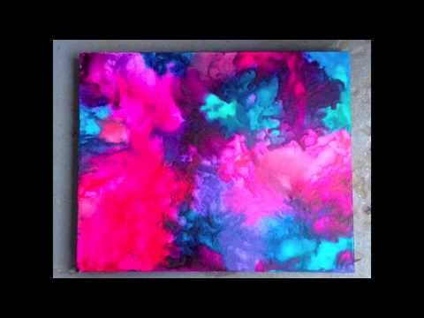 DIY: Melted Crayon Art 2.0 - Abstract Colour Burst ♡ Theeasydiy #ArtForTheNonArtist