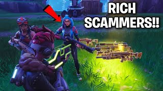 Two Rich Girls Tried To Scam Me! (Scammer Get Scammed) Fortnite Save The World