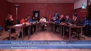 Concejo Municipal jueves 12 de septiembre 2019