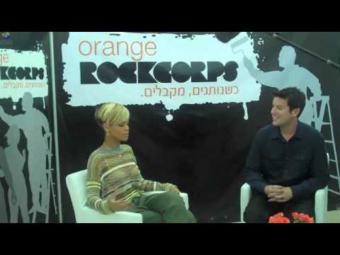 Rihanna talks about working with Eminem and volunteering with Rockcorps in Israel