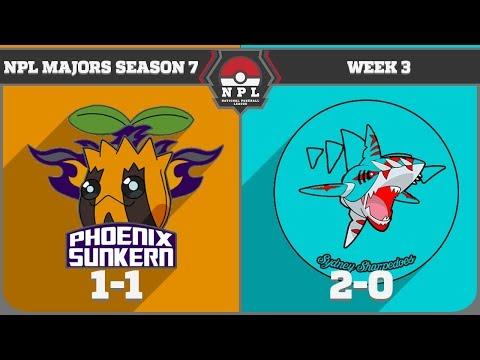 National Pokeball League S7W3: Phoenix Sunkern vs Sydney Sharpedoes (2-0)
