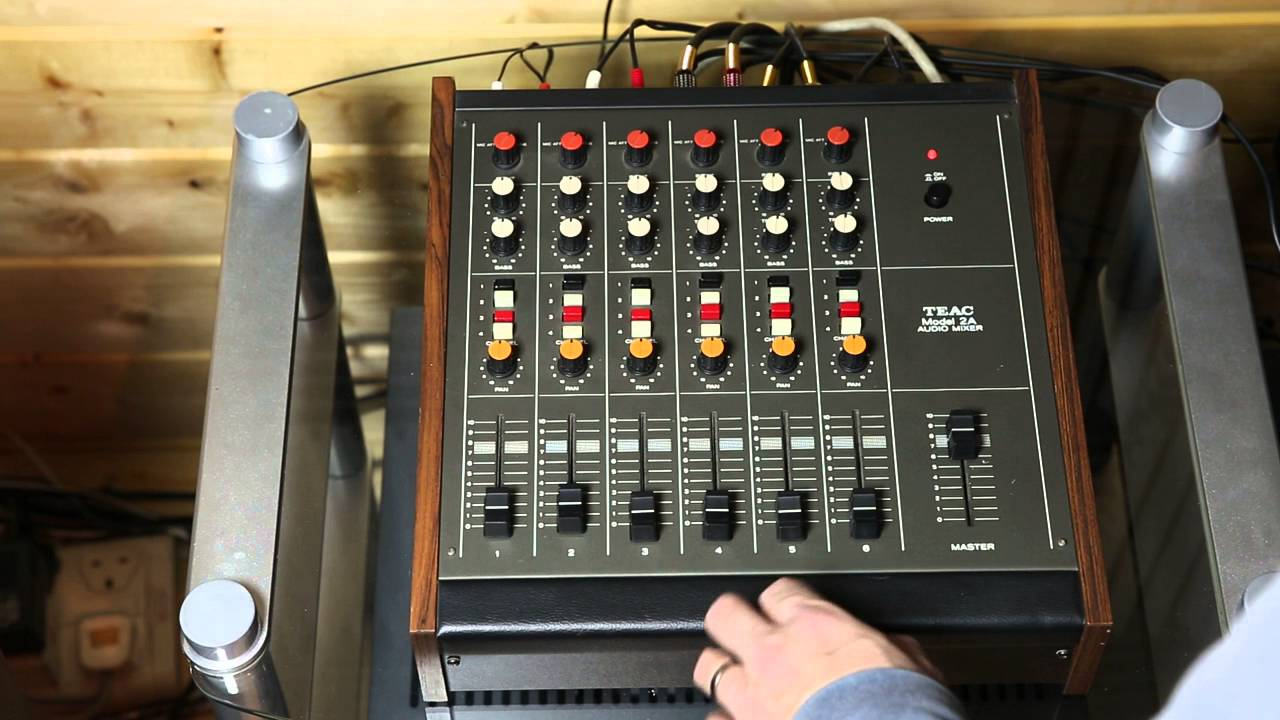Teac Model 2a Audio Mixer Demonstration - Including Analogue Tape Echo