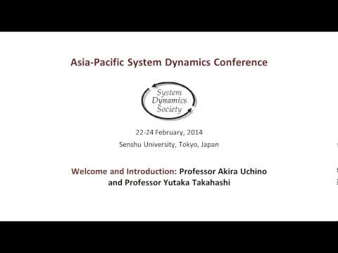 Tokyo system dynamics conference, 2014. Welcome