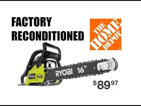 Reconditioned 14 In 37cc Ryobi Chainsaw From Homedepot Com Cheapest Chainsaw 2019