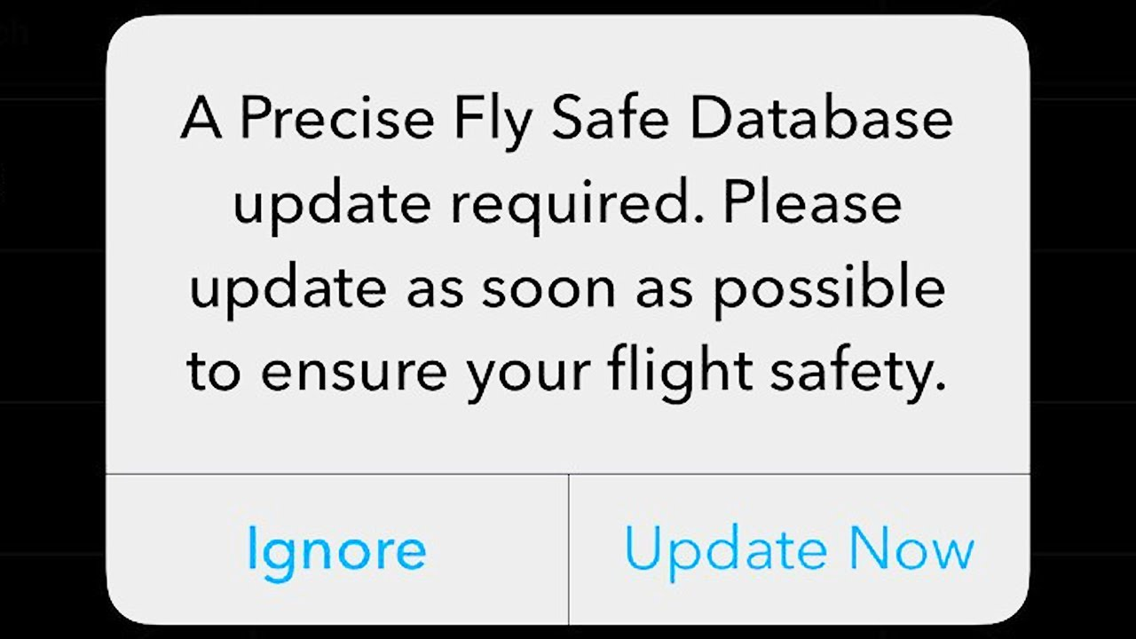 Precise Fly Safe Database Update - Should You Do It? - Let Us Drone