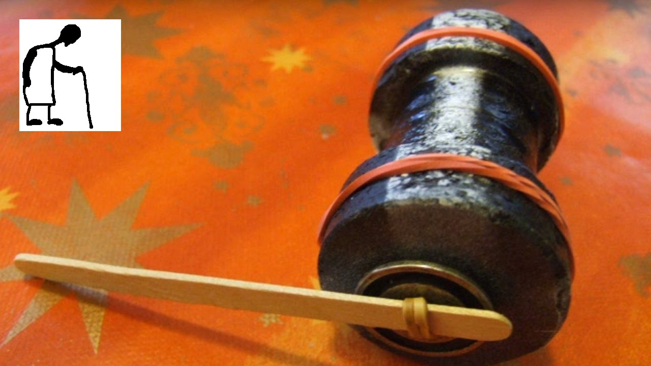 Old Style Rubber Band Powered Cotton Reel Car 1 Youtube