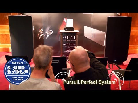 Quad ESL 2912 Electrostatic Speakers NEW Artera Solus All in one @ Bristol Show 2018 Sound & Vision