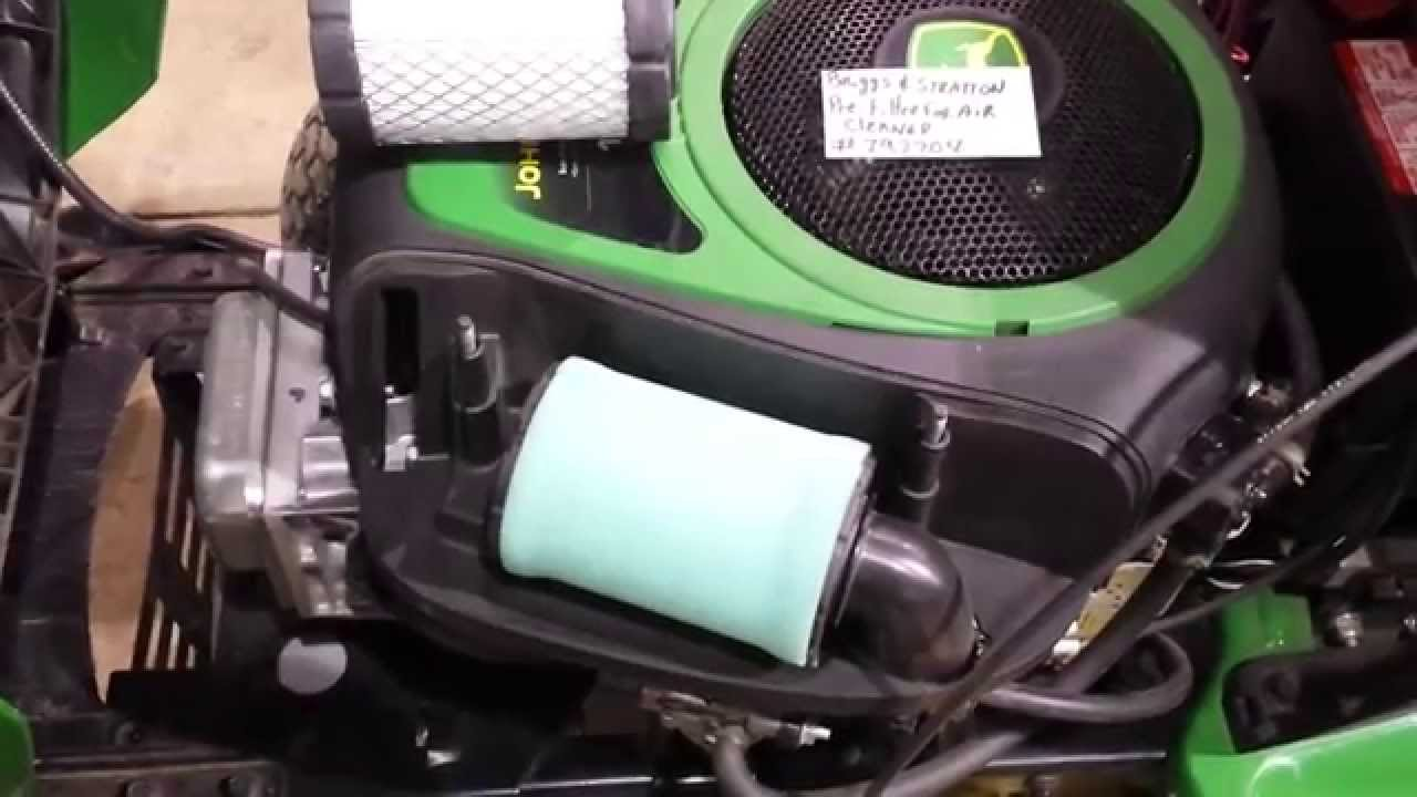 John Deere Solenoid Wiring Diagram Cell Cycle Circle D110 Air Filter Issue - Youtube