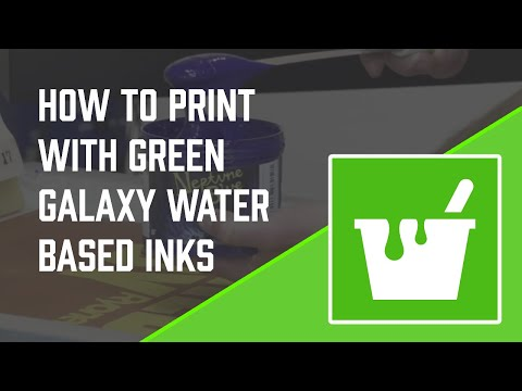 How to Screen Print with Water Based Ink from Green Galaxy
