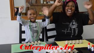 THE ROYAL KIDS MAKE A CATERPILLAR| SIMPLE ARTS AND CRAFTS FOR KIDS