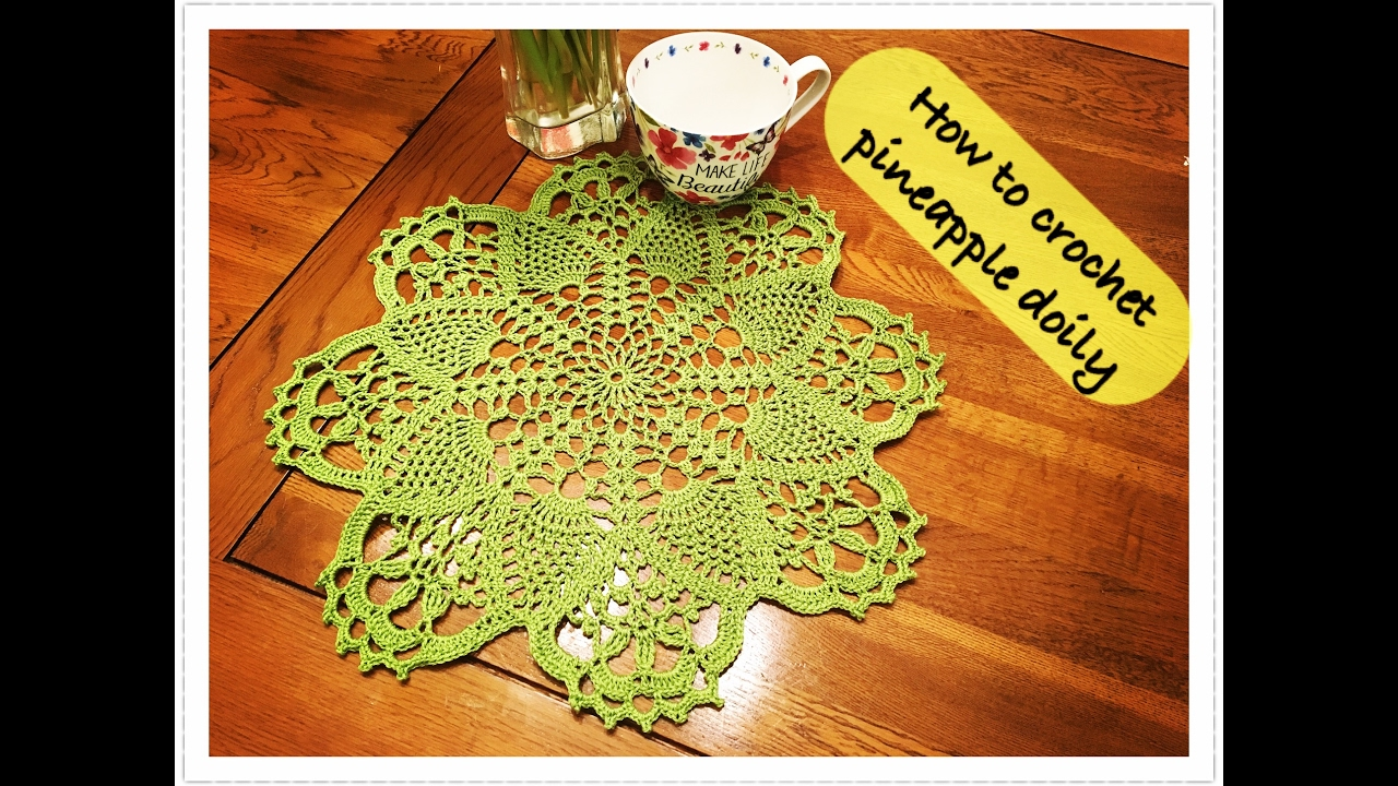 How to crochet pineapple doily - YouTube