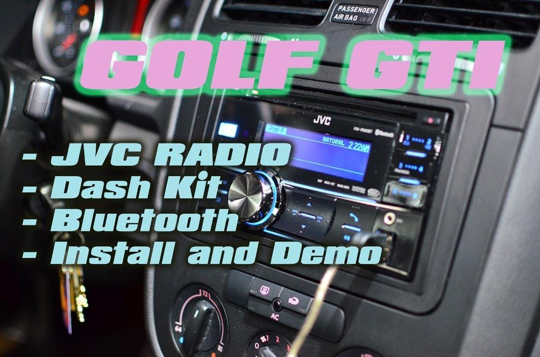 Volkswagen GTI JVC Radio Install KWR900BT, Dash Kit, RadioPro ...