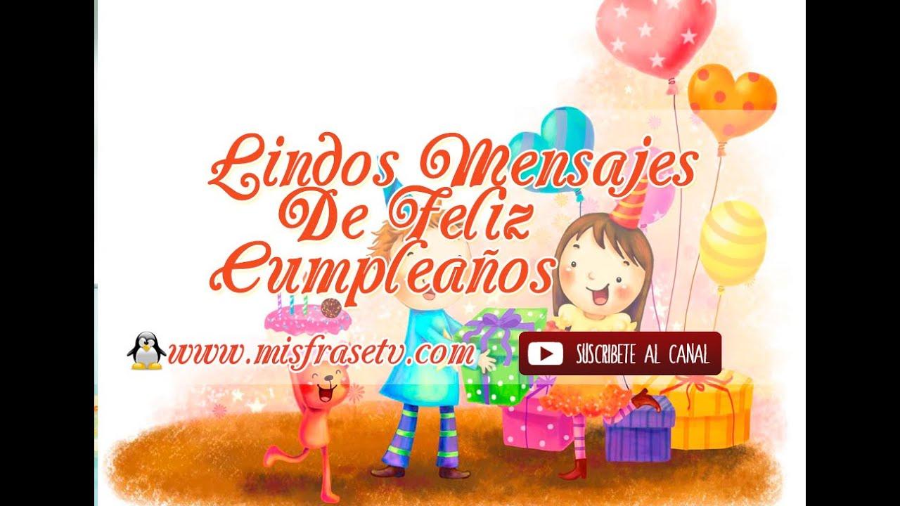 Lindos mensajes de feliz cumplea os videos animados - Feliz cumpleanos infantil animado ...