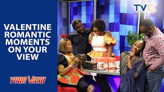 Romantic Moments! Your View Ladies React To Their Husbands' Valentine Messages