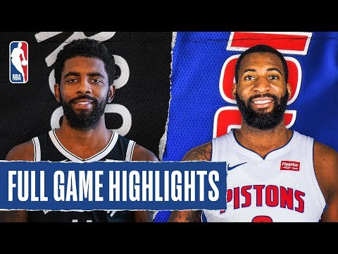 NETS At PISTONS | FULL GAME HIGHLIGHTS | January 25, 2020
