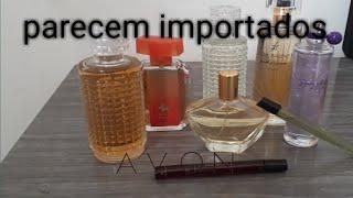 Meus perfumes da Avon que parecem com perfumes importados