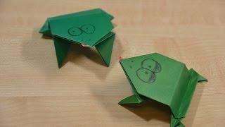 Прыгающая Лягушка оригами из бумаги своими руками. Обучающее видео для детей | Jumping Origami Frog.(Учимся как делать своими руками прыгающую лягушку оригами из бумаги. Обучающее видео для детей. На нашем..., 2016-03-27T20:42:32.000Z)