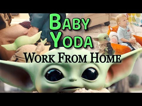 """Baby Yoda Pregnancy Announcement // """"Baby Yoda...Working From Home"""""""