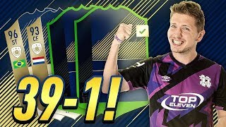 39-1 WITH FOUR NEW INCREDIBLE PLAYERS!  FUT CHAMPIONS TOP 100 GAMEPLAY