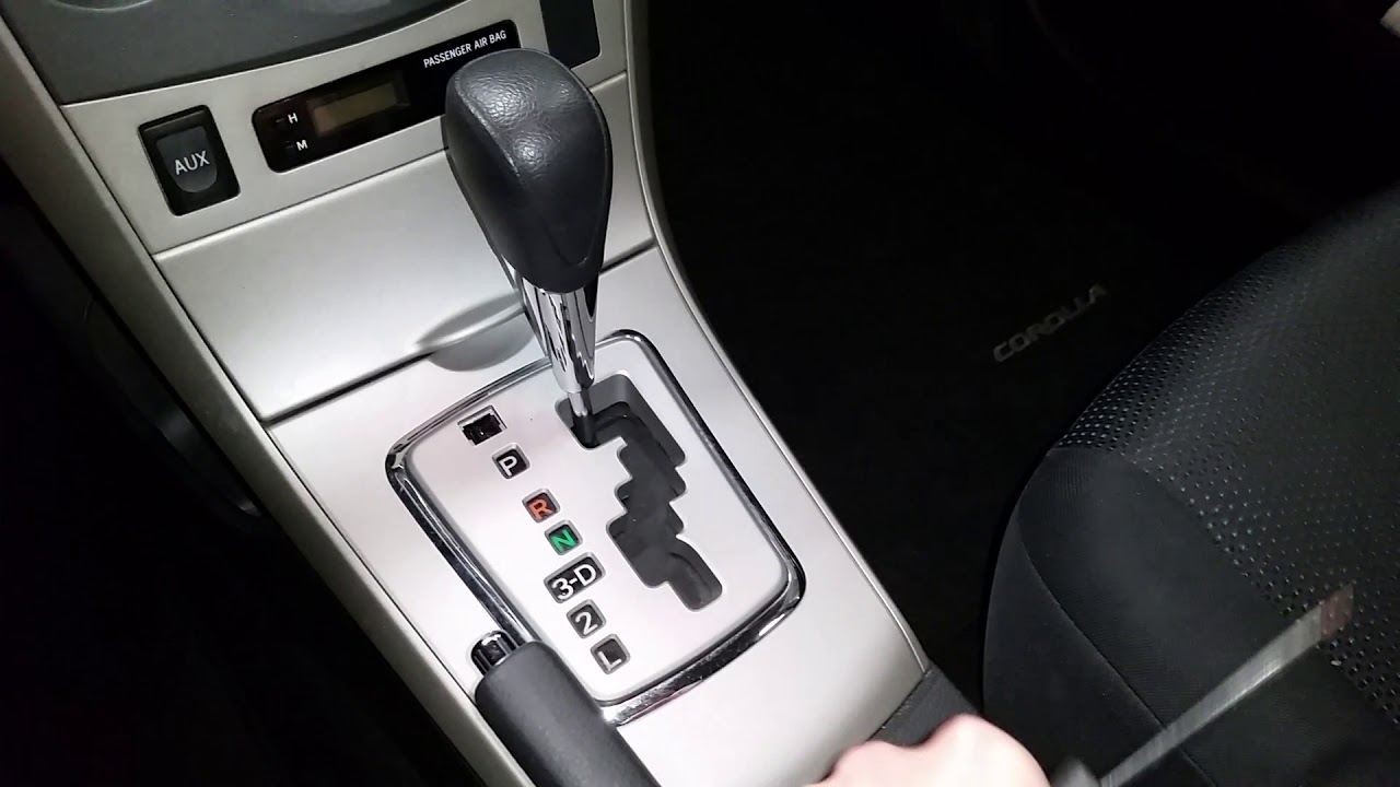 2009 To 2013 Toyota Corolla How To Release Shift Lock Move From Park To Neutral Youtube