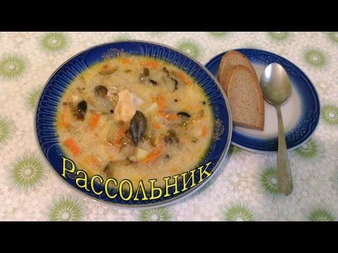 Суп с гречкой и солеными