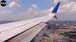 United 737-900ER Split Scimitar Landing at Newark Liberty Airport!