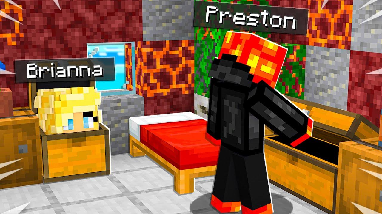 I Secretly Moved into PrestonPlayz Minecraft House! *he had no clue*