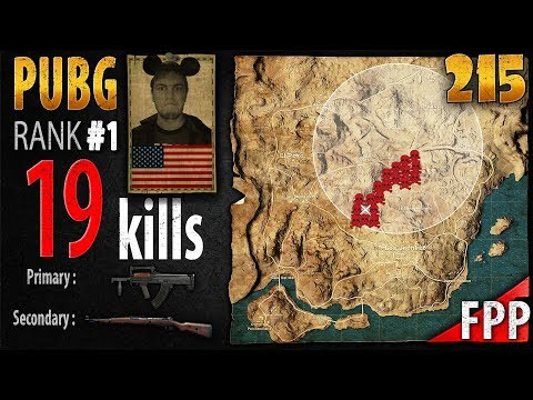 PUBG Rank 1 - JTIK 19 kills [EU] SOLO FPP - PLAYERUNKNOWN'S BATTLEGROUNDS #215