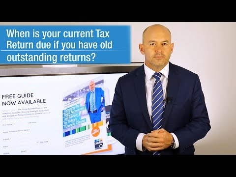 When Are Tax Returns Due if you have Old Outstanding Returns