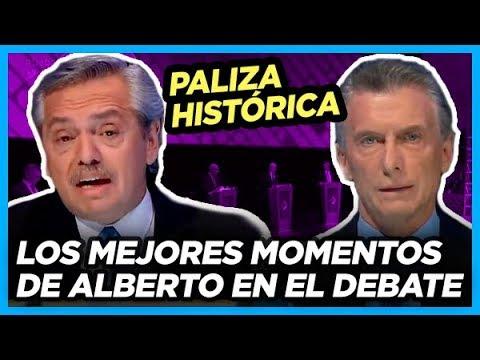 RESUMEN de los mejores momentos del paseo de Alberto a Macri en el Debate Presidencial 2019
