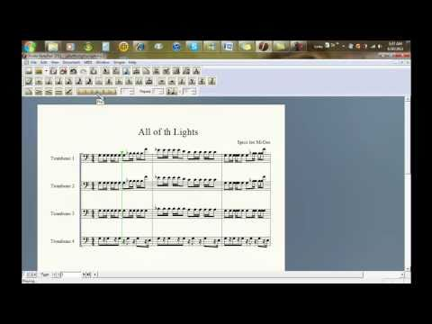 All Of The Lights Sheet Music Trombone