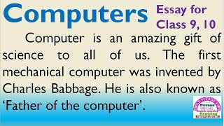 computer topic essay on computers in english by smile please kids