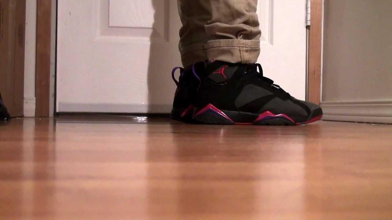 994efc636f2 Jordan VII 7 Raptors on feet - YouTube