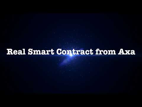 Smart Contract, real example from Fizzy, Axa insurance