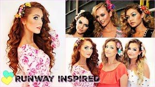 Gigi Hadid Makeup & Hair Tutorial   Tropical, Mermaid Look!