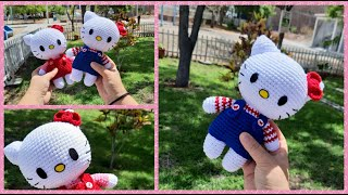 Patrón para tejer Hello Kitty en crochet | 180x320