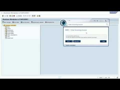 MIRO Invoice Entry - Leo EPSS Guide Me mode