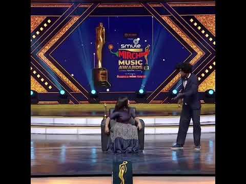 Shivangi_ Bala    Mirchi Music Award Show Chella Kutty Shivangi and Bala Vera Level