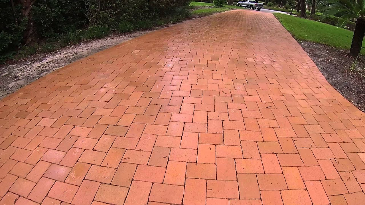 Driveway With Clay Brick Total Brick Pavers Youtube