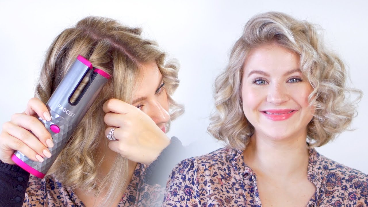World's First WIRELESS AUTOMATED Curling Iron | Milabu - YouTube